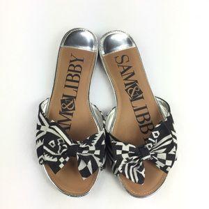 Sam & Libby ••• Tribal Print Bow Toe Sandals